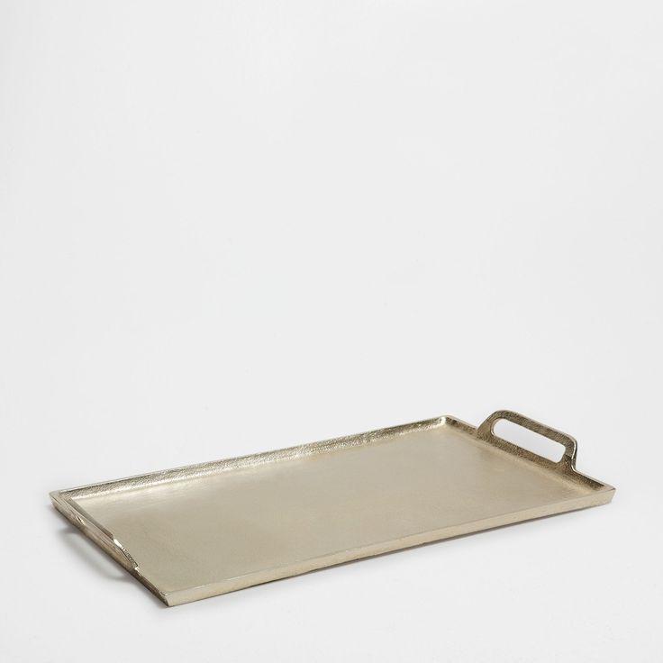 Zilverkleurig metalen dienblad - Dienbladen - Tafel | Zara Home Holland