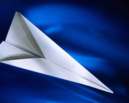 Paper Airplane templets. (instead of using bean bags or a ball, they have to use a paper airplane)