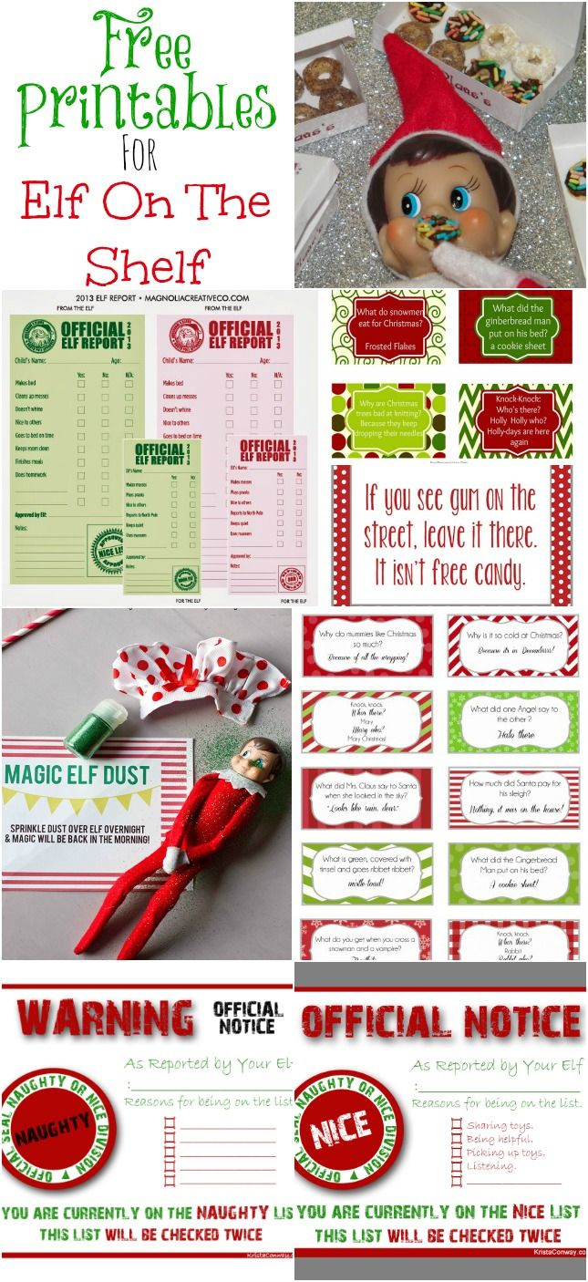 Elf on the Shelf Printables (Freebies) - Moms & Munchkins