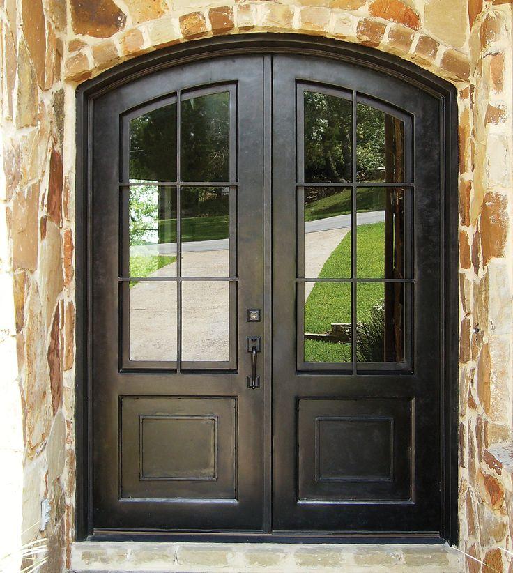 Love this classic, wrought iron door!