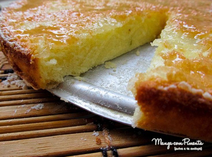O melhor bolo de limão, vai por mim!! Para ver a receita, clique na imagem para ir ao blog Manga com Pimenta.