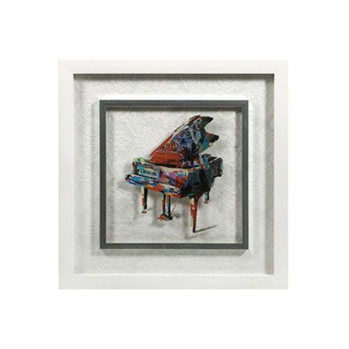 The Terry Piano Contemporary Framed Art | dotandbo.com