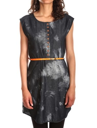Macker Jeansdress [black acid w.] // IRIEDAILY Dresses Women // FALL/WINTER 2014: http://www.iriedaily.de/women-id/women-dresses/ #iriedaily
