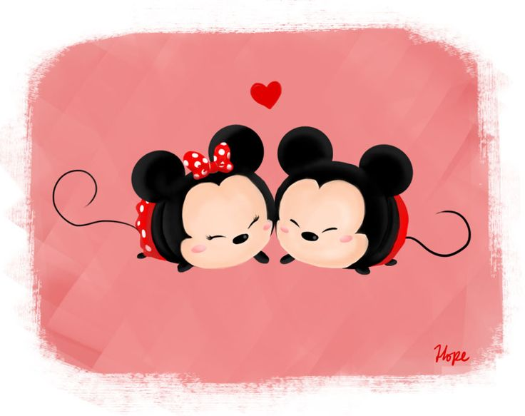 """hopewaffle22: """" Mickey and Minnie Tsum Tsums. I really like Tsum Tsums though I don't own one…..:( Anyways, I'm planning to draw one tsum tsum a day or alternate with my colored pencil drawings. """""""