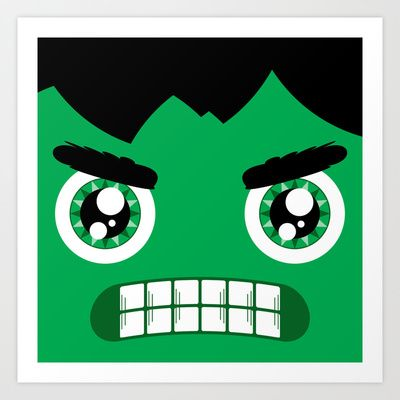 Adorable Hulk Art Print by Justin D. Russo - $19.00