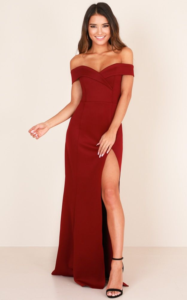 ea30ddabee813 One For The Money Dress In Wine | Grace wedding | One for the money ...