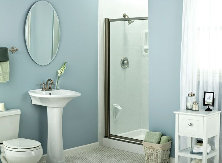 One way to make your small bathroom look bigger is to for Small bathroom looks
