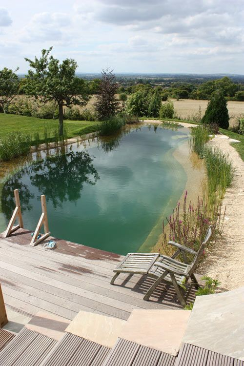 Natural Swimming Pond Designs from Gartenart - I LOVE this idea! No chlorine, the plants at the edge keep the water clear and you swim. I'm so having one of these some day!