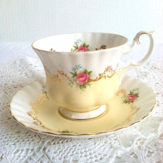 Love Royal Albert tea cups! Vintage Royal Albert Tea Cup and by MariasFarmhouse on Etsy, $100.00