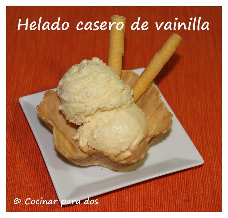 Helado casero de vainilla | Cocinar Para 2