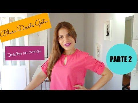 Como costurar blusa de chiffon com decote gota PARTE 2 - YouTube
