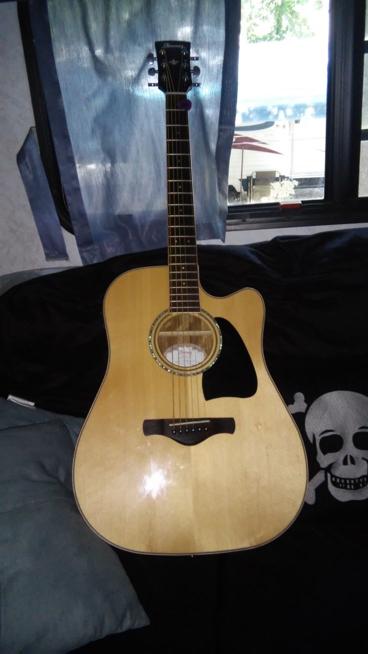 My acoustic for the Jersey Shore. Ibanez AW CW