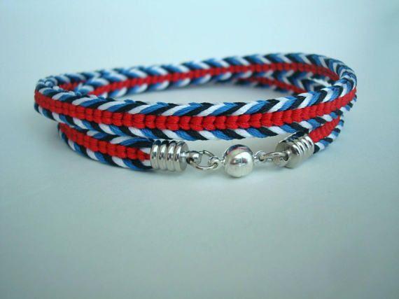 Braided bracelet Bright bracelet Elegant bracelet Kumihimo