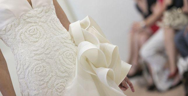 Dress by ElisabettaPolignano  http://www.unadonna.it/matrimonio/la-sposa-del-futuro-le-tendenze-per-gli-abiti-2014/31331/