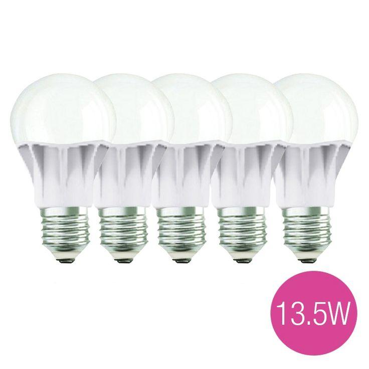 Jual 5 Lampu Bohlam LED OSRAM 13,5 Watt (Pengganti Bohlam Pijar 100 Watt).  Garansi Resmi 1 Tahun.  - Tahan lama hingga 15 tahun - Hemat energi - Tidak mudah panas - Cahaya lebih terang - Setara dengan lampu pijar 100W, fitting E27.   Harga untuk 5 lampu.  http://lampu.com/lampu-led-bulb-bohlam/1175-jual-5-lampu-bohlam-led-osram-135-watt-pengganti-bohlam-pijar-100-watt.html  #lampuled #bohlam #lampuhematenergi #osram