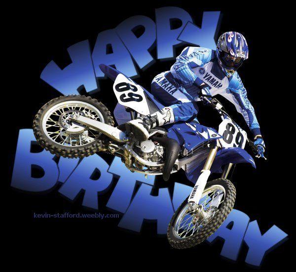 Happy Birthday Motocross Dirt Bike Motorcycle Yamaha