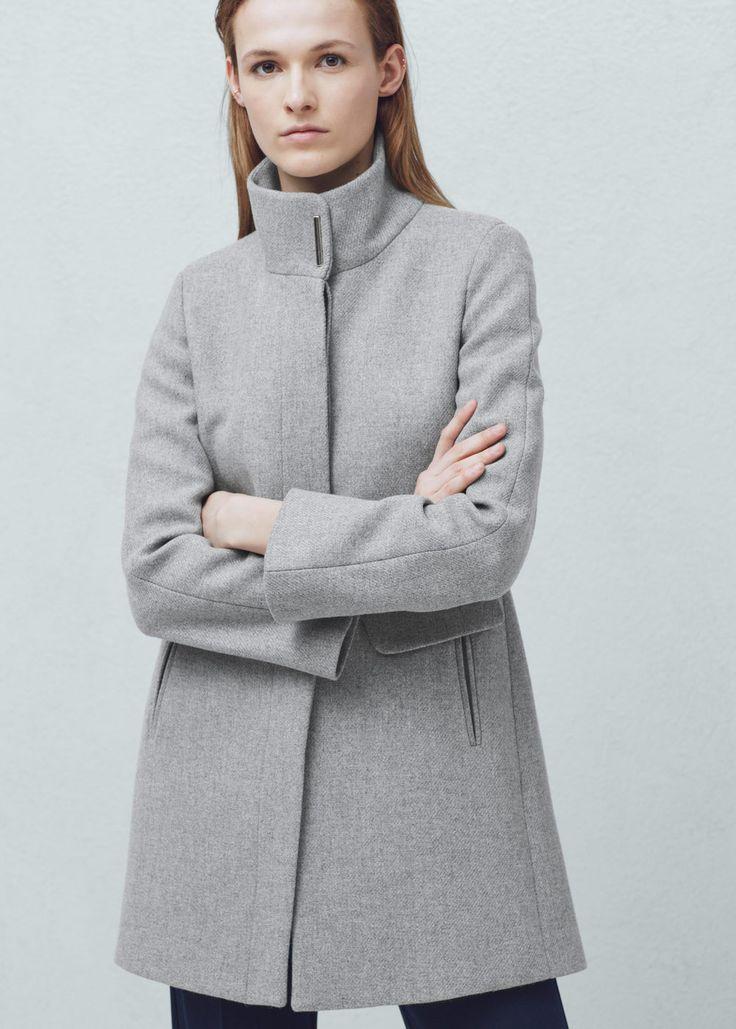 Abrigo lana - Abrigos de Mujer | MANGO Chile                              …