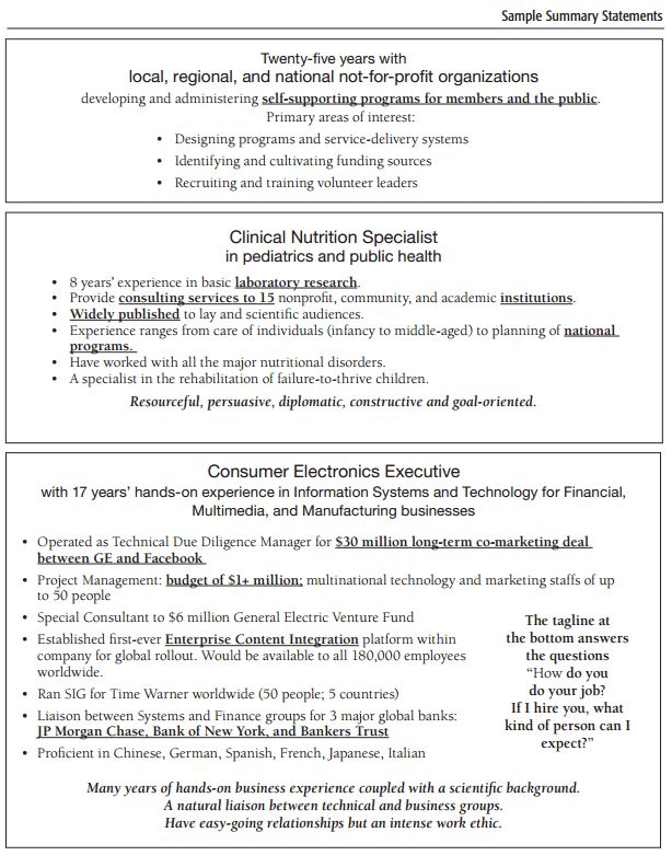 Executive Summary Resume Example | Resume Examples And Free Resume