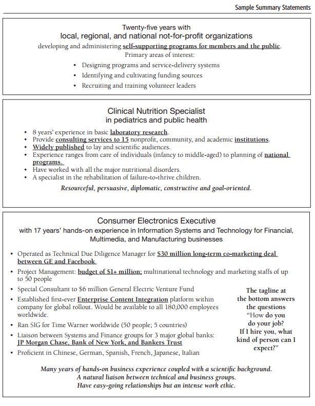 Executive Summary Example Resume Professional Resume Summary