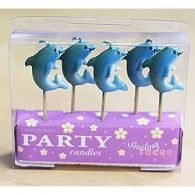 Candles Dolphin Pkt5 $7.95 LCC025