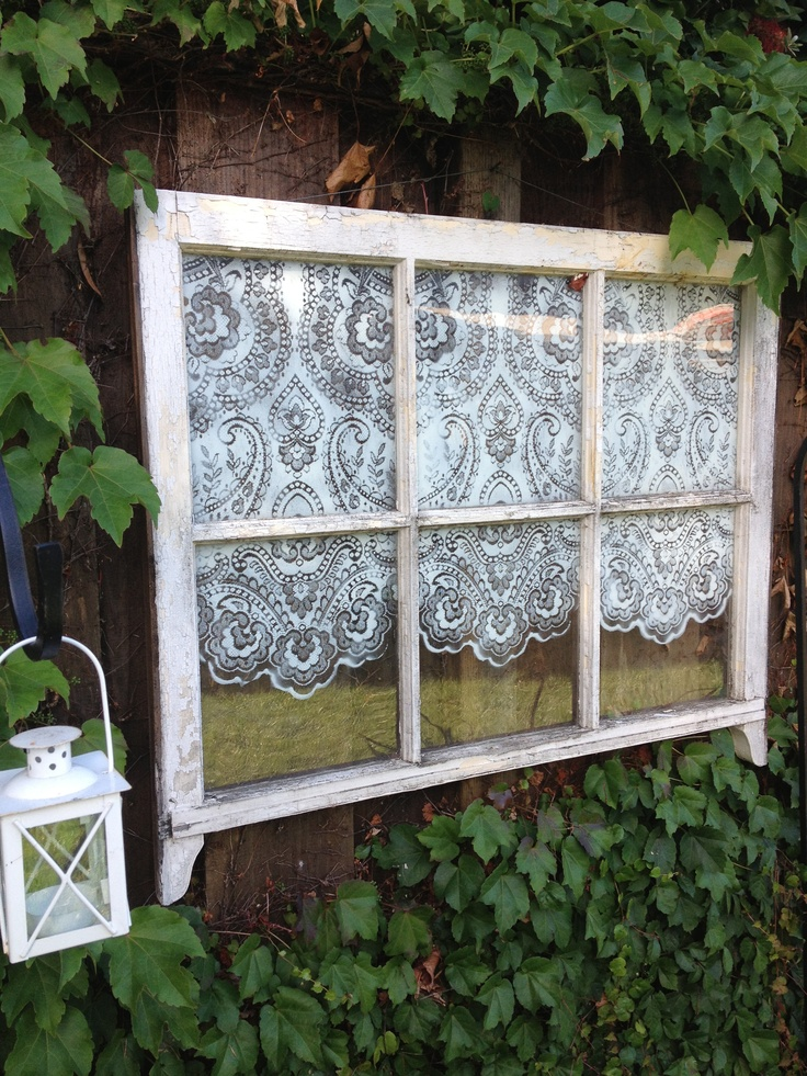 Faux Curtain Created By Spray Painting A Lace Curtain S