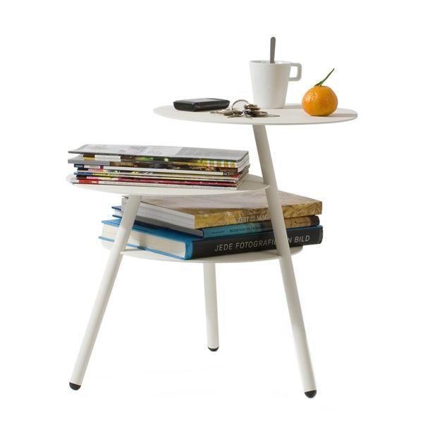 Trio table, white