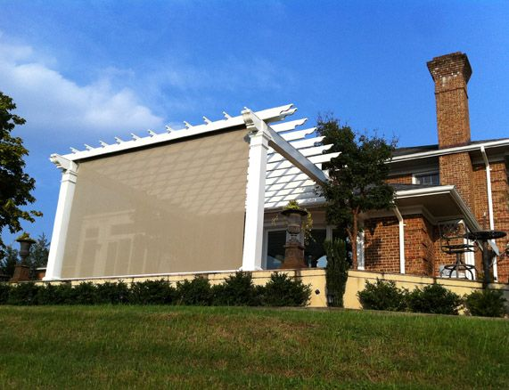 Eclipse vertical drop solar screen retractable awnings for Vertical retractable screen