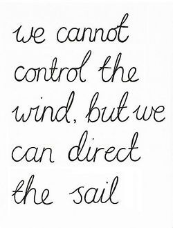 quotes to live by / we cannot control the wind, but we
