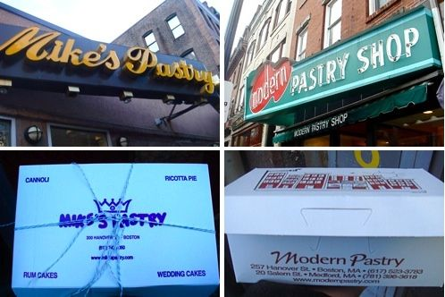 Boston Pastry Wars: Mike's Pastry vs. Modern Pastry Shop  Can't wait to find out which is my winner!