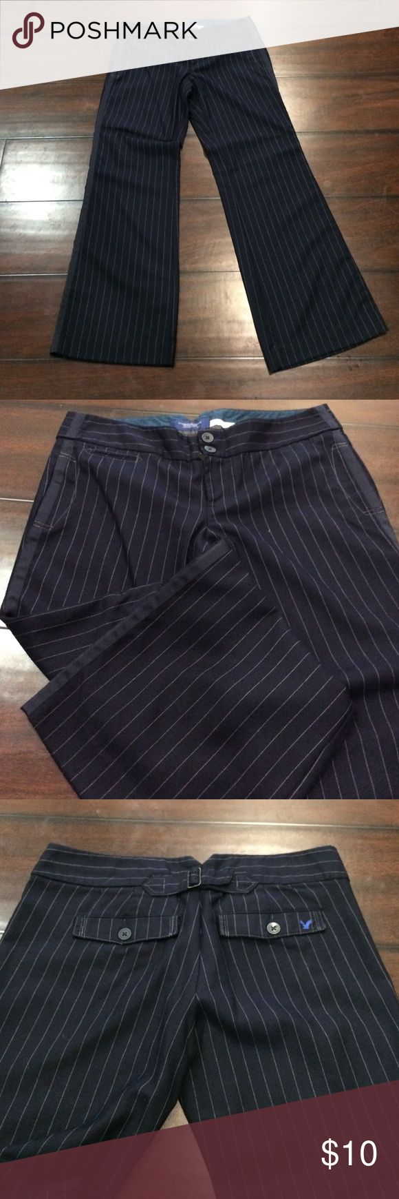 American eagle navy blue pinstripe dress pants American Eagle navy blue pinstripe dress pants American Eagle Outfitters Pants Trousers