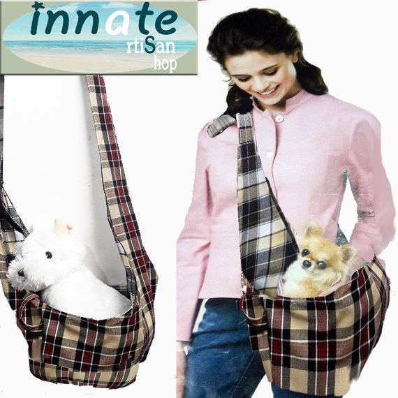 Dog Sling bag Machine wash by InnateArtisanShop on Etsy