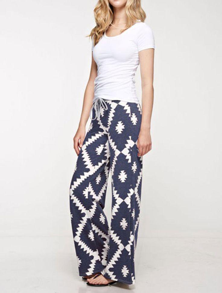 Aztec Print Casual Lounge Pants