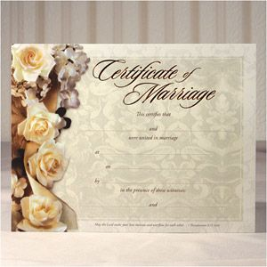 Best Marriage Certificates Images On   Weddings