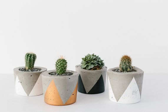 Concrete Planter  Small / Candle Holder by foxandramona on Etsy