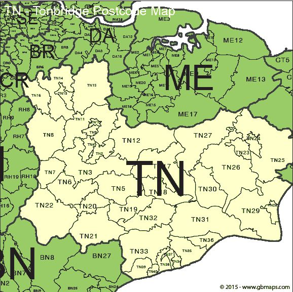 Good the digit postal code districts of tonbridge with for Code postal de troyes
