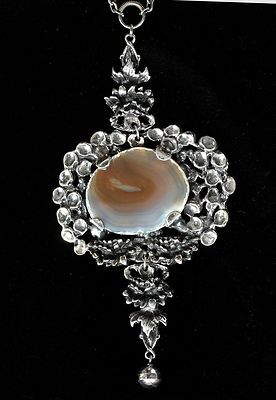 Pentti Sarpaneva for Turun Hopea ~Vintage modernist agate and silver necklace, 1974. | eBay.com