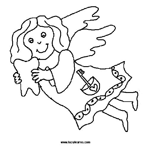 39 best Tooth Fairy Coloring Pages National Tooth Fairy Day images