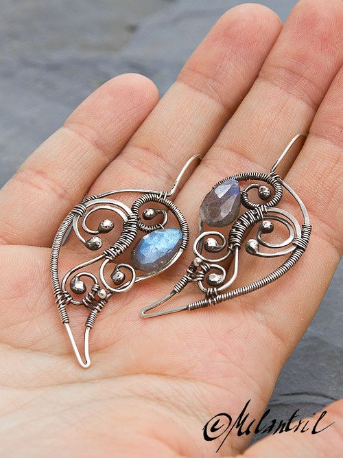 Aurora wire wrapped earrings in boho bohemian hippie hippy gypsy style. For more follow www.pinterest.com/ninayay and stay positively #pinspired #pinspire @ninayay
