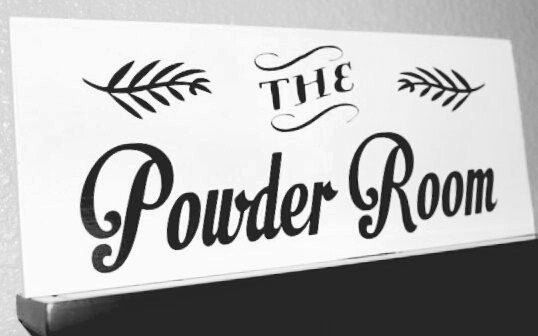the powder room powder room sign bathroom sign wooden