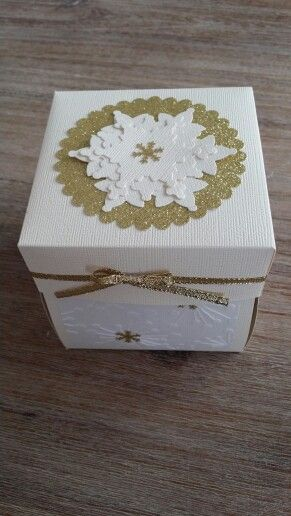 Cream and gold christmas explosion box