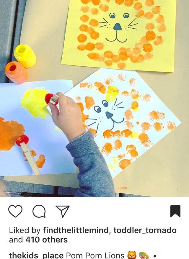 Jungle safari lion  themed doting craft/activity page