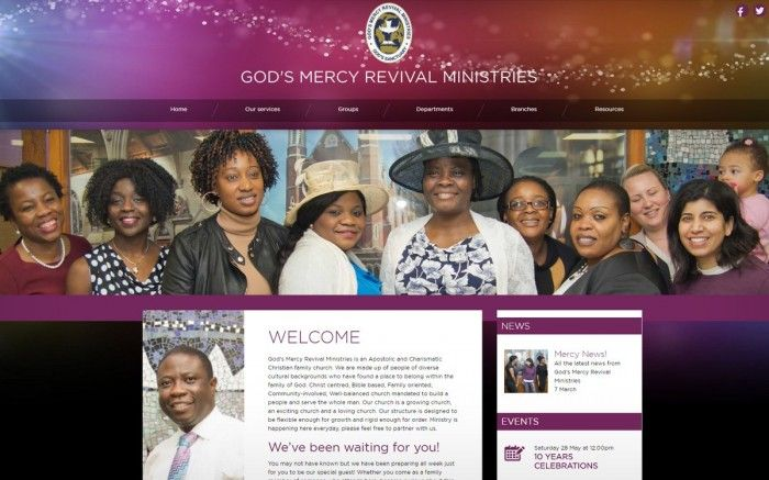 God's Mercy Revival Ministries is a group of churches in Southampton and London. This is a brand new fully responsive website, and the CMS allows them to upload audio,video and control...