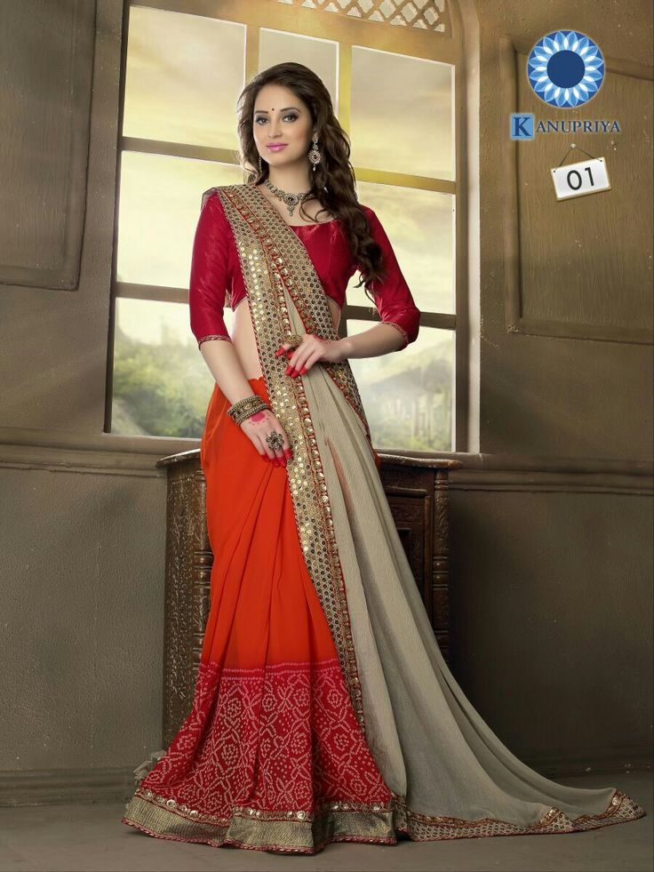 Bindanistudio offers exclusive designer bandhani saree in wholssale rate: Catalog name: kanupriya No. of pcs : 15 Material : Georgette Single rate : 1650  for orders call/whatsapp : 7575045742 www.bindanistudio.com