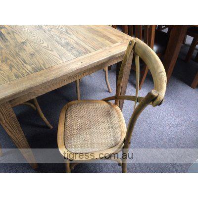 'Noosa' Oak 9 piece dining package 210 x 100 cm (Cross back chairs) $2,199
