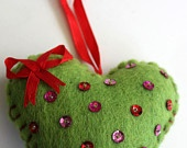 Felted Heart decoration