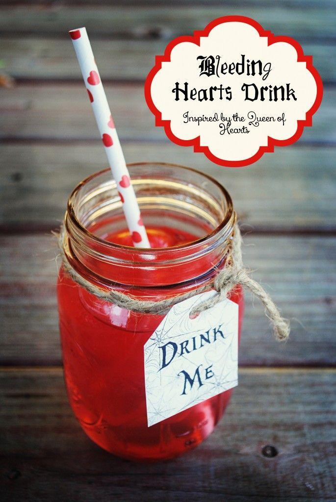 "Spooky, yet delicious Queen of Hearts Inspired recipes! ""Bleeding Hearts Drink Recipe!"" #shop #cbias #halloween"