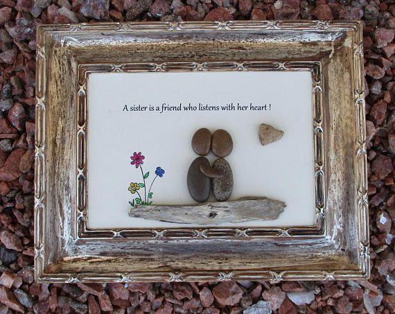 Home Decor - Framed Pebble Art - Pebble GiftsPebble Art ...