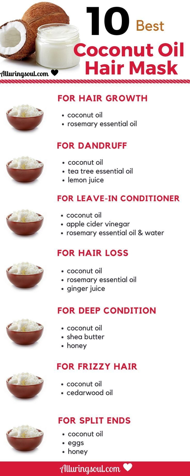 Coconut Oil is the best oil to grow beautiful, stronger and longer hair. Try the…