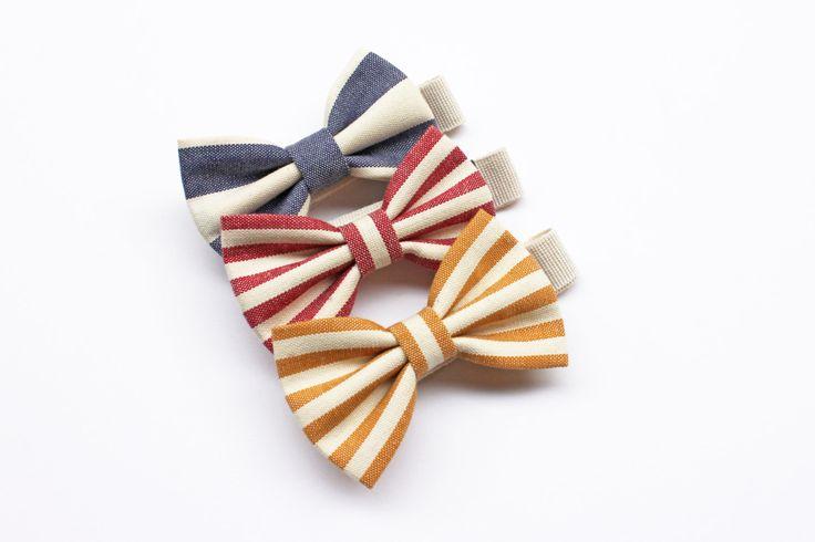 Papillon per Bambino a righe blu,rosso,senape,accessori bimbo,regalo per bambino cerimonia,papillon per paggetto porta anelli,moda bimbi di ScoccaPapillon su Etsy