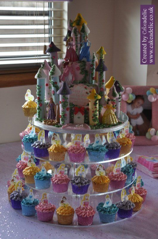Disney Princess Birthday Castle and Princess Cupcakes | Birthday Cakes